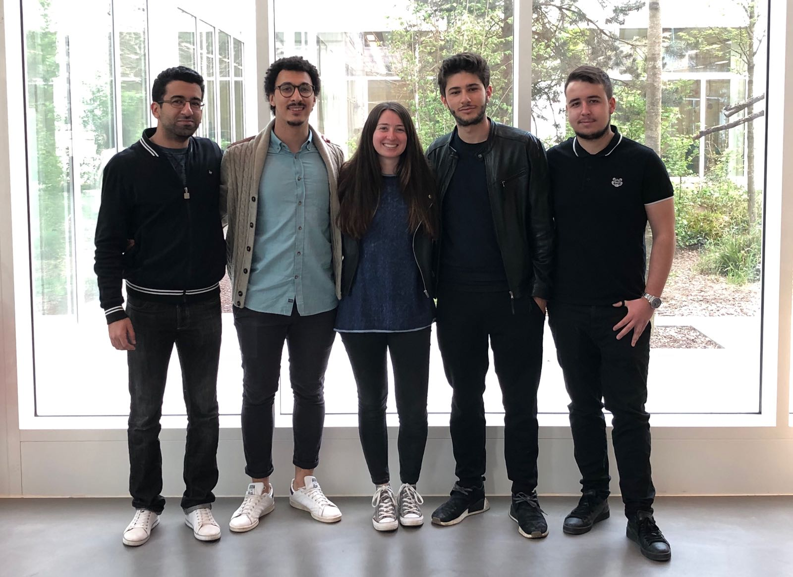 Alexandre Abadie, Aziz Ben M'Barek, Raphael Cohen, Victoire De Brosses et Amine Gagou